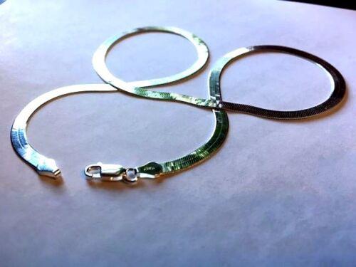 Wholesale Flexible 3.4 mm Herringbone Sterling Silver Chain LOTS-révisé//.925