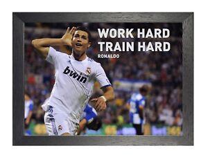 Cristiano Ronaldo 3 Motivation Portuguese Professional Footballer Poster Photo
