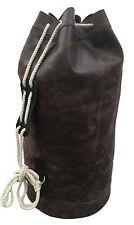 Retro Leather Drawstring Duffel Travel Barrel Bum Bag