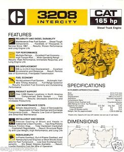 3208 cat engine pulley diagram for cat engine ecm diagram equipment brochure - caterpillar - 3208 intercity truck ... #15