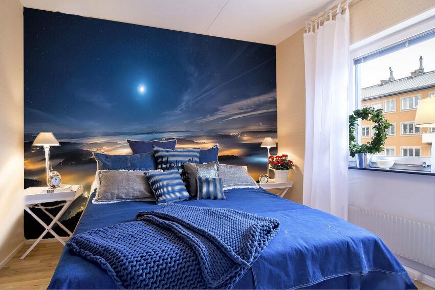 3D Shining Star Mountain 964 Wall Paper Wall Print Decal Wall AJ WALLPAPER CA