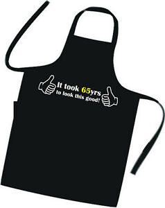 Suprise-65th-BIRTHDAY-Cooks-Apron-Excellent-Birthday-Gift-Tabard-BBQ-Hotel