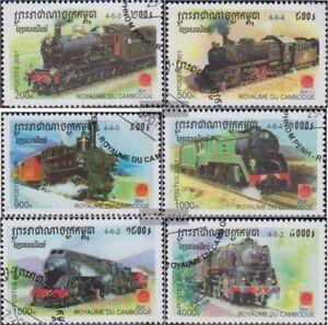 Other Asian Stamps Trains & Railroads Cambodge 2211-2216 Oblitéré 2001 Locomotives à Vapeur Price Remains Stable