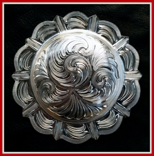 """Details about  /5/"""" Silver Hand Engraved Western Pico Concho"""