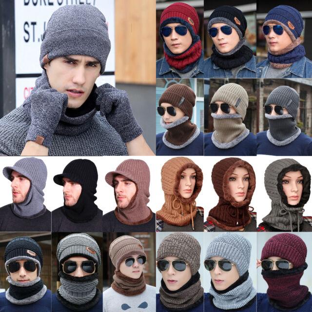 ITZU Co.Black Fleeced Multi Functional Neck Face Mask Warmer Beanie Ski Snood