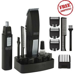 mustache beard trimmer personal clipper electric hair cut groomer ear nose black ebay. Black Bedroom Furniture Sets. Home Design Ideas