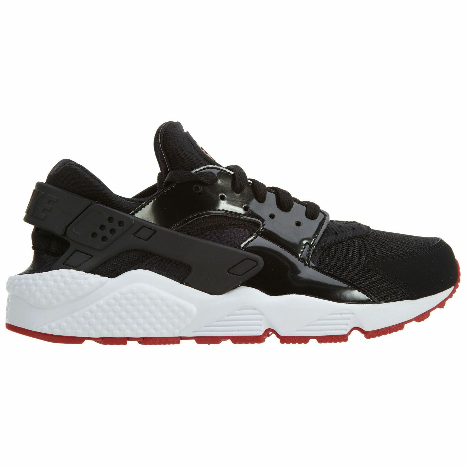 Nike Air Huarache Mens 318429-032 Black Red Patent Leather Running shoes Size 10