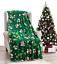 NEW-Ultra-Cozy-amp-Soft-Christmas-Holiday-Green-Snowman-Plush-Warm-Throw-Blanket thumbnail 1