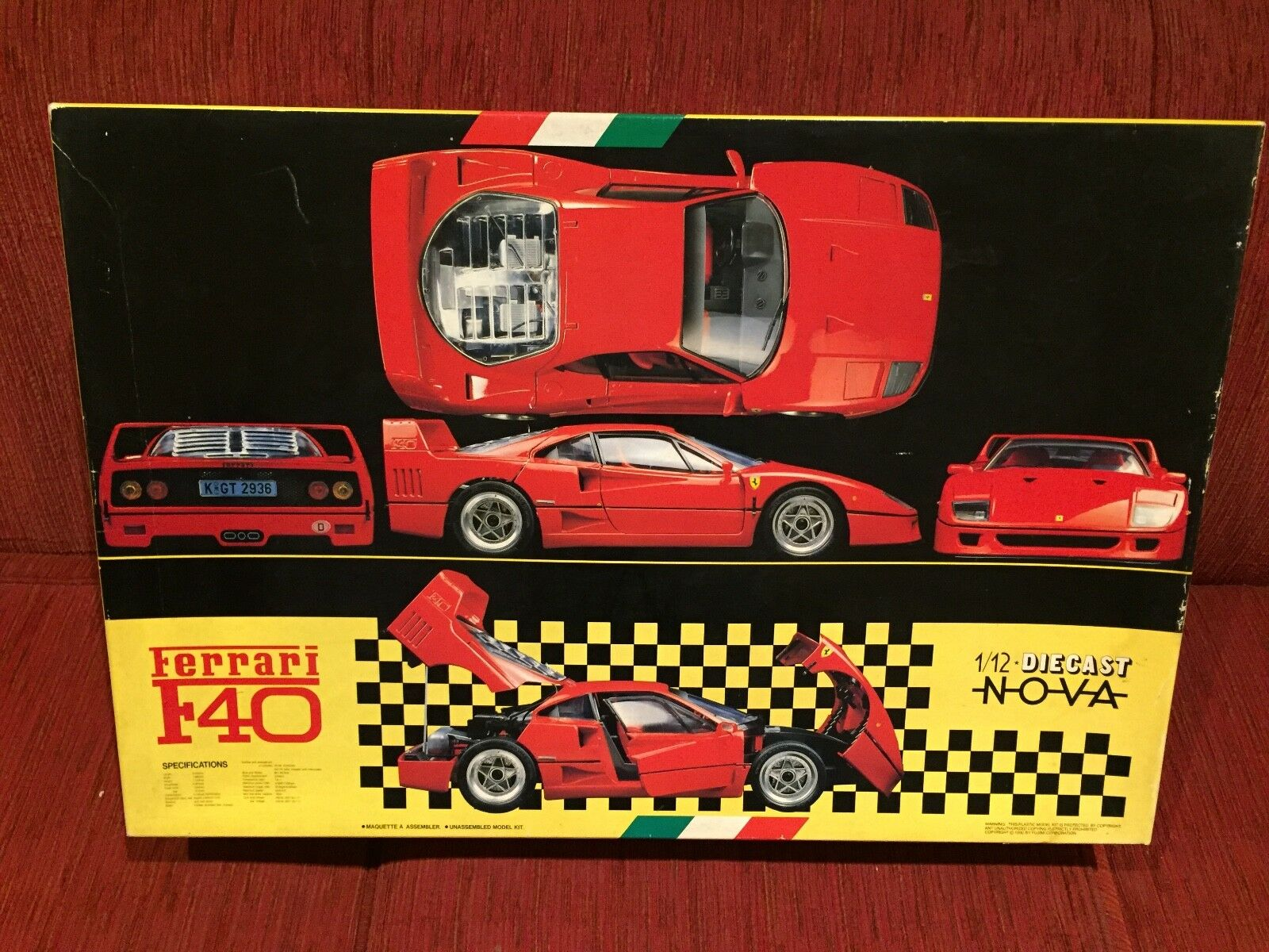 Ferrari F40 Fujimi Model Kit 1 12 RARE New in Box collectable. Die cast NOVA