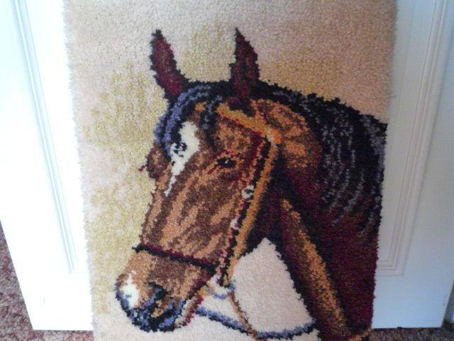 Wandteppich - Bild handgeknüpft Pferdekopf 65 x 45 cm  Neu | Rabatt