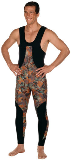 Beuchat Mundial Camo  Brown LONG JOHNS 5mm Size - X-Large  excellent prices