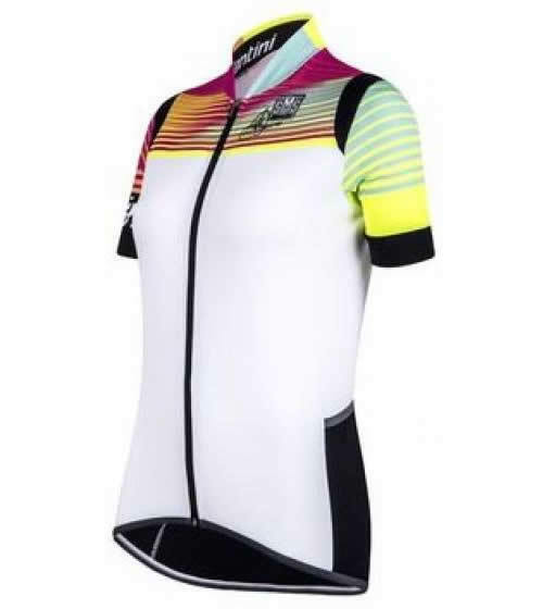 Wouomo Anna Meares Collection  Cycling Jersey 2.0 in bianca by Santini.