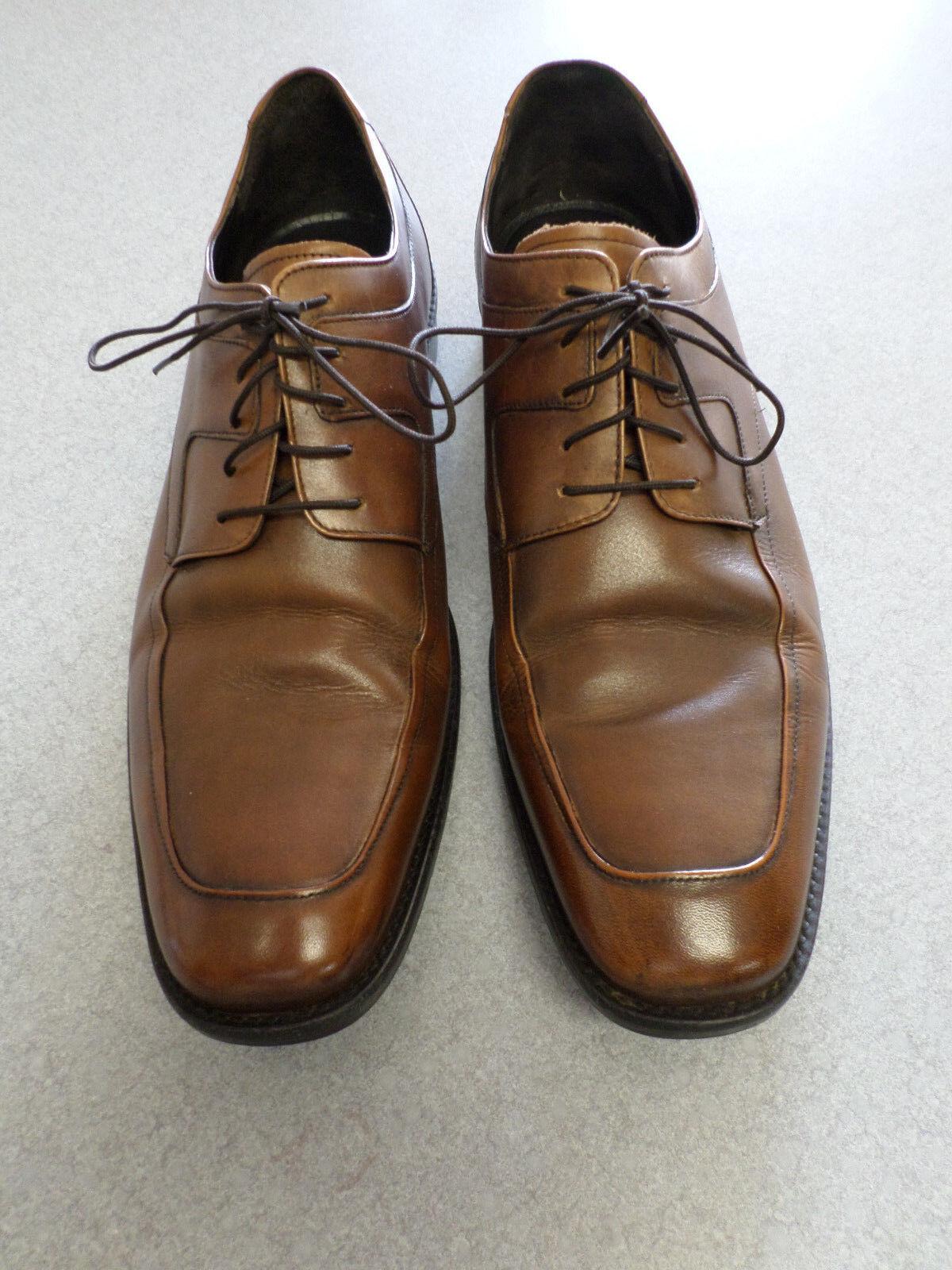 Johnston & Murphy walnut brown leather oxfords. Men's 13 M