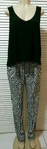 NEW! INC International Concepts Bold Tribal Print Flyaway Tank Jumpsuit Size L