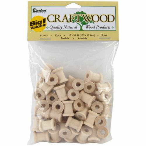"Wood Turning Shapes-Spool .5/""X.625/"" 40//Pkg"