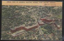 Postcard FT FORT WAYNE Indiana/IN  G.E. Electric Factory/Plant Aerial view 1930s
