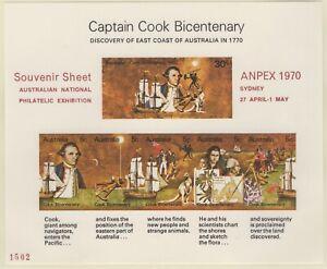 1970-Captain-Cook-ANPEX-70-Unauthorised-Overprints-x-5-MUH-Cat-Val-400-00