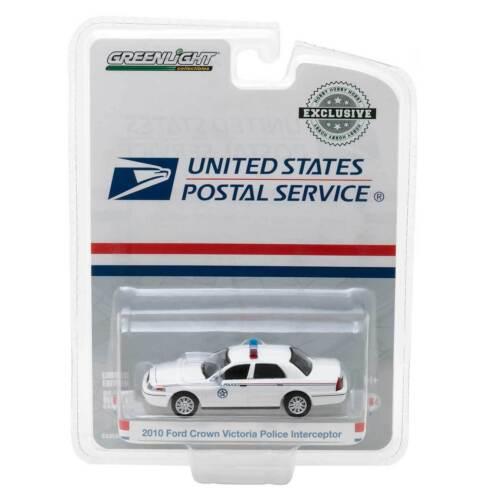 Greenlight Hobby Exclusive 2010 FCV Police Interceptor USPS 1//64 Scale