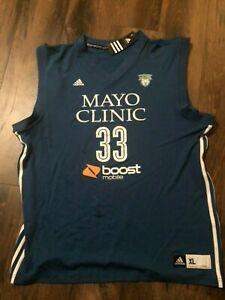 NEW Adidas WNBA Minnesota Lynx Seimone Augustus 3 Stripe Blue ...