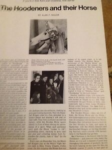 Ephemera-1968-1-Page-Article-The-Hoodeners-And-Their-Horse-M486