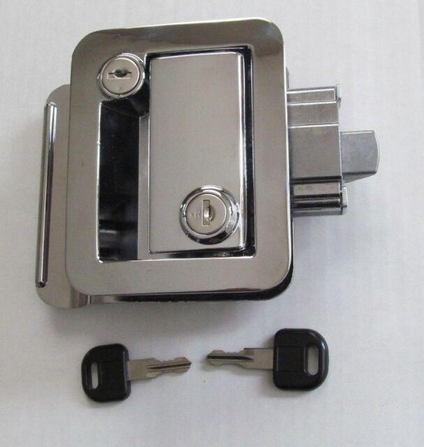 Chrome Rv Entry Door Lock Handle Inside Deadbolt 1 Key Travel