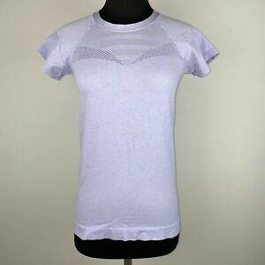 Z By Zella Womens S Move Thru Short Sleeve Seamless T-Shirt In Purple Perfume
