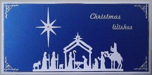 Religious Christmas Card Designs.Details About Handmade Religious Christmas Card With A Nativity Scene In White Blue Design