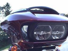 Road Glide Vent Grille 3pc. Set Custom Fit Harley-Davidson Black honeycomb patte