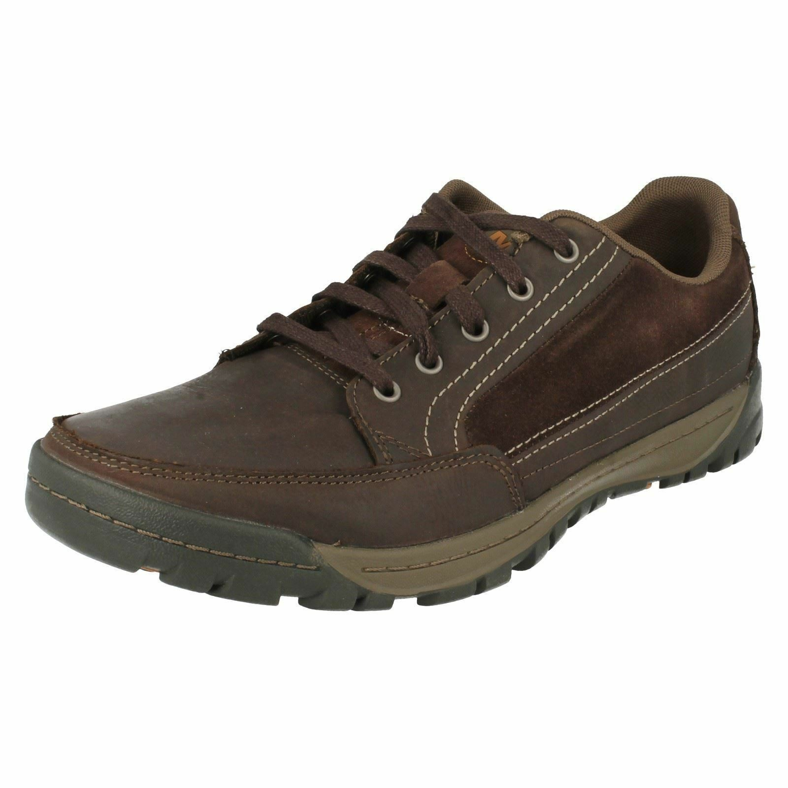 Mens Merrell Traveler Sphere J69107 Espresso Brown Leather Lace Up Trainers