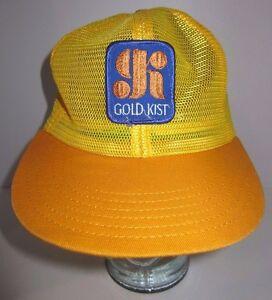 Details about Vintage GOLD KIST 70s 80s Yellow Gold Trucker Hat Cap  Snapback ALL MESH Farming 4731e145246d