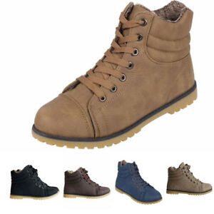 7b6fe98defd3d Womens Ladies Lace Up Ankle Boots Casual Rubber Grip Sole Combat ...