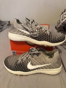 1893dbba8d30 Nike Free TR Flyknit 2 904658 002 Grey Sail-Charcoal Women Training ...