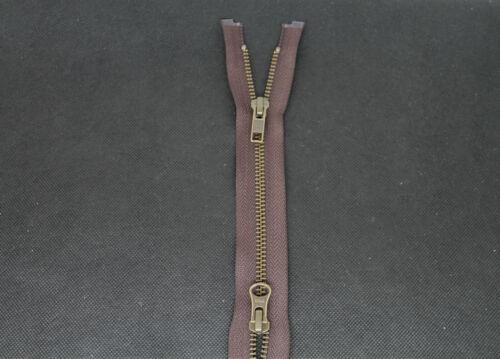 Blau YKK 2 Wege Metall Reißverschluss 90 cm Brüniert Nummer 5 Schwarz Braun
