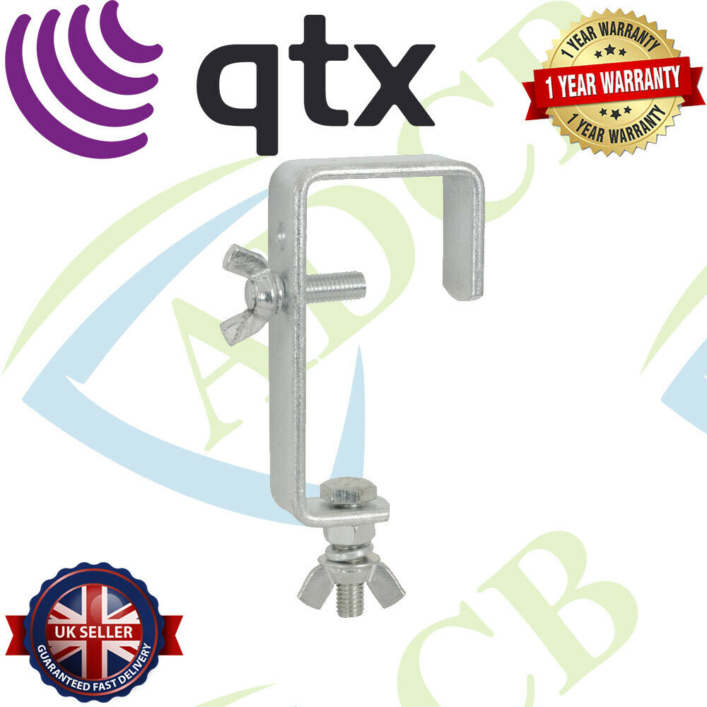 QTX Mounting Hook for Light Effects Silver Clamp Fits Poles Up to 45mm
