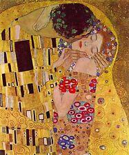 50x76CM Gustav Klimt The Kiss Zoom In Canvas Framed Print 20X30 INCH