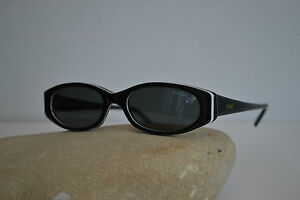 CONCERT-OCCHIALE-DA-SOLE-nero-asta-larga-ovale-vintage-1980-Made-in-Italy