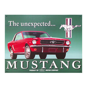 Image is loading Ford-Mustang-Unexpected-Metal-Sign-Classic-Muscle-Car-  sc 1 st  eBay & Ford Mustang Unexpected Metal Sign Classic Muscle Car Vintage Garage ...