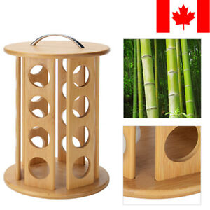Revolving-Bamboo-Coffee-Pod-Holder-For-24-K-Cup-Coffee-Capsules-Organizer-Gifts