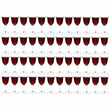 Plastic Outdoor Red / White Wine Glasses. Strong Drinking Cups Glasses x48