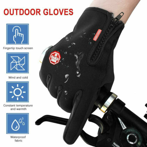 Men Women/'s Winter Warm Windproof Waterproof Thermal Touch Screen Gloves Mittens