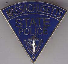 MA MASSACHUSETTS STATE POLICE TROOPER PROUD MINI SHIRT LAPEL PATCH BADGE PIN NEW