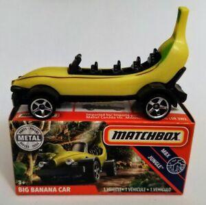 "HTF MBX JUNGLE #71//100 2020 MATCHBOX POWER GRABS /""BOXED/"" YELLOW BIG BANANA CAR"