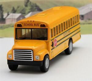 American-Yellow-School-Diecast-Bus-Boys-Toy-Model-Gift-Birthday-Present-Xmas-New