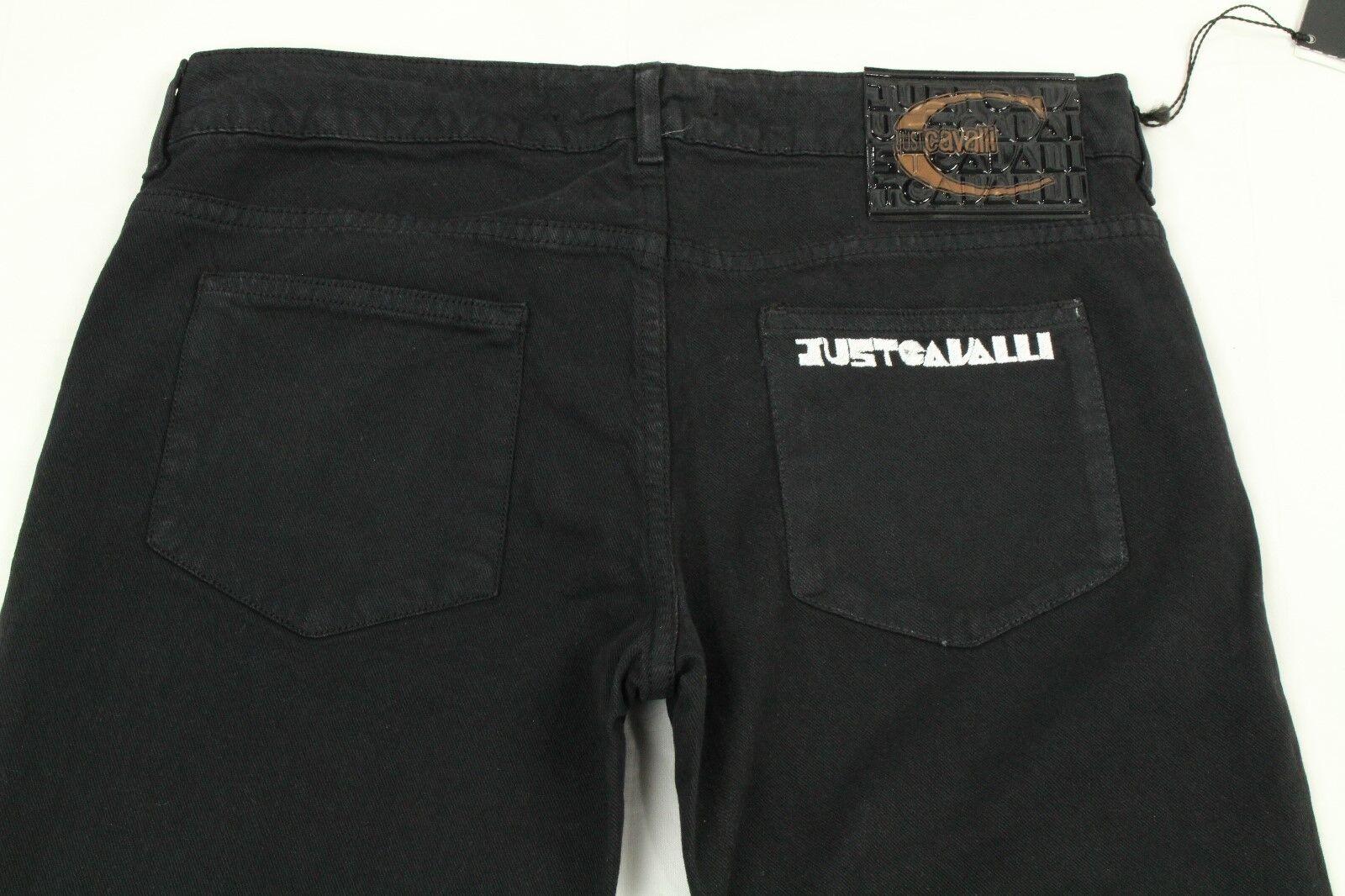 Just Cavalli Damen Jeans Distressed Schwarz Skinny Stretch Größe 30