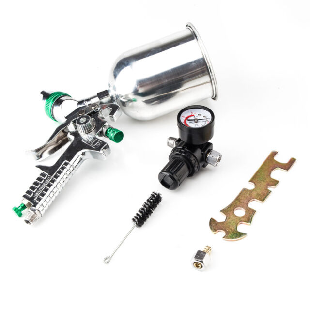 New HVLP Spray Gun 2.5mm Auto Paint Gravity Feed Gauge Metal Flake Primer Nozzle