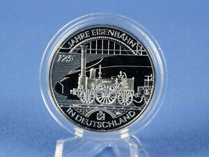 10 Euro Allemagne 2010 D, 300 Ans De Chemin De Fer, Argent 925 * Pp/proof (rfa - 48)-afficher Le Titre D'origine Confortable Et Facile à Porter