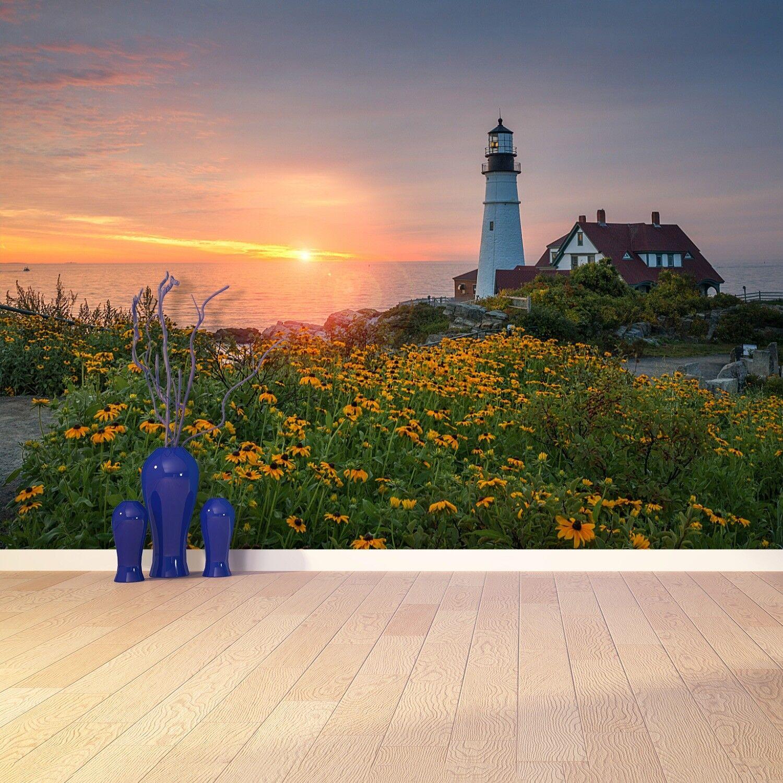 Fototapete Selbstklebend Einfach ablösbar Mehrfach klebbar Leuchtturm in Maine