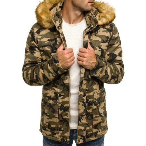 Style Uomo Giacca Invernale Parka Giacca Giacca termico inverno cappotto coat MIX OZONEE J