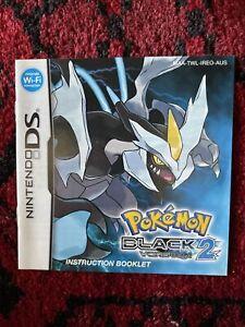 Nintendo-DS-POKEMON-BLACK-2-Aus-V-Instruction-Booklet-Only-No-Game-or-case