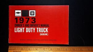 1973-CHEV-Light-Duty-Truck-Original-Owners-Manual-Excellent-Condition-US